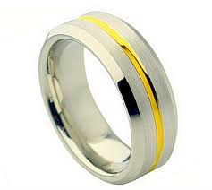 8mm ring cobalt 8mm ring with gold color groove in men s rings