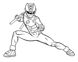 power rangers horse holding gun coloring pages kids gva