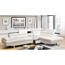 Leather Match Upholstery Furniture Of America Milton 2 Piece Sectional Sofa With Optional
