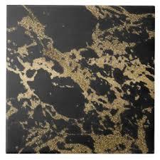 black and gold ceramic tiles zazzle