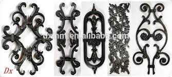 the iron fences prefabricated used the cast iron ornaments for