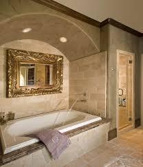 Arched Shower Door Bathtub Spout Bathroom Mediterranean With Arched Ceiling Bathtub