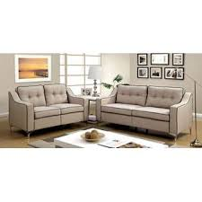 Beige Tufted Sofa by Furniture Of America Sofa And Loveseat Living Room Furniture Beige