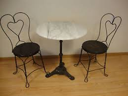 ice cream table and chairs vintage marble top ice cream parlor table chairs ebay