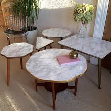 marble effect vintage cloud coffee table 1950s table basse