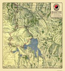 Yellowstone Map Usa by Old Railroad Map Yellowstone National Park 1910