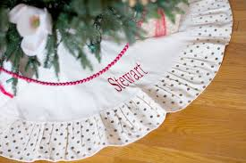 classic gold dot christmas tree skirt 1 2 week production time