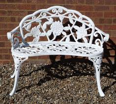 awesome cast iron patio bench metal bench metal wrought iron bench