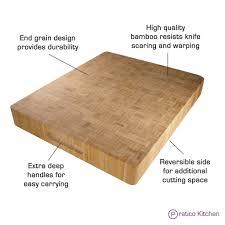 bamboo reversible butcher chopping block u0026 serving tray large