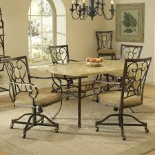 Kitchen Chairs On Wheels Swivel Furniture Makes It Easy To Move Around In Your Breakfast Nook