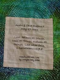 wedding quilt sayings heartspun quilts pam buda framing finishing quilt labels