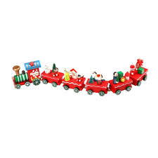 anboo merry christmas xmas wood train decoration home decor gift