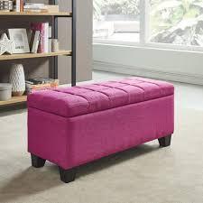 Pink Storage Ottoman Worldwide Homefurnishings Inc
