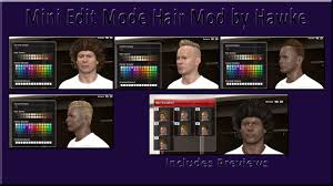 fifa 14 all hairstyles pes 2014 mini edit mode hair mod by hawke pes patch