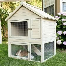 Pet Hutch Ecoflex Huntington Townhouse Rabbit Hutch New Age Pet The
