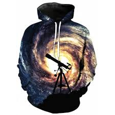 galaxy print pullover hoodie online for sale gearbest com