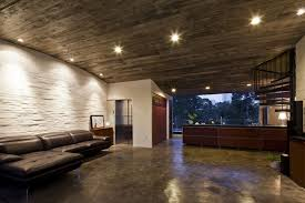 concrete ceiling lighting thanh house by vo trong nghia architects and sanuki nishizawa