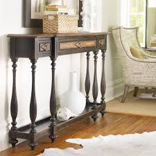 hooker furniture console table hooker furniture ebony drift 3 drawer thin console table hayneedle