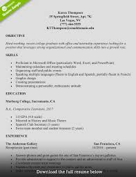 resume for college student how to write a college student resume with exles