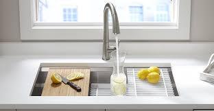 kohler faucets kitchen sink kohler prolific stainless steel sink elevate your kitchen