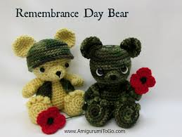 remembrance teddy bears remembrance day amigurumi to go