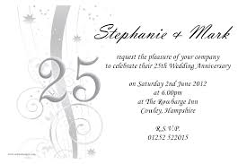 Luxury 25Th Anniversary Invitation Cards 22 In Invitation Design