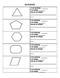 2d shapes worksheets by leanne howse teachers pay teachers