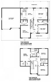 modern two story house plans double storey canadianoor plan