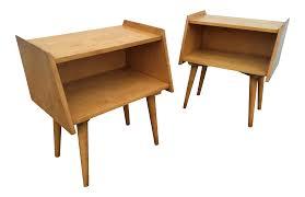 Mid Century Furniture Crawford Furniture Mid Century Maple Nightstands Chairish