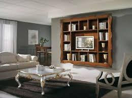 libreria tv parete porta tv con cornice 100 legno mobile libreria ebay