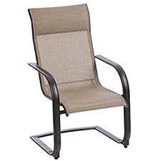 Sling Patio Dining Set Belleville Rocking Padded Sling Outdoor Dining Chairs