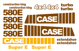 case 580b new replacement decal kit machine decals