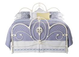ballina textured ivory metal bed frame dreams