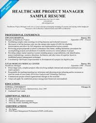 Project Resume Example by Healthcare Project Manager Resume Example Http Resumecompanion