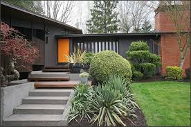 painting mid century modern home exterior paint colors fence deck