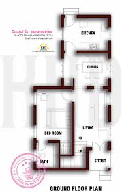 Rectangular House Plans by Small Plot Villa In 2 75 Cents Of Land Kerala Home Design And