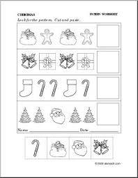 worksheet christmas follow the pattern preschool primary