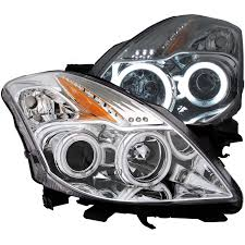 nissan altima yellow engine light anzo usa nissan altima 08 13 2dr projector headlights chrome
