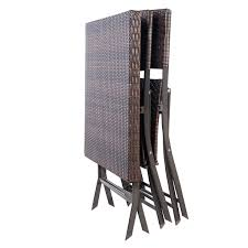 Folding Patio Furniture Set - 3 pcs patio folding rattan seat outdoor furniture sets outdoor