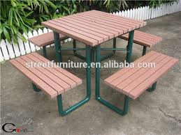 Picnic Table With Benches Outdoor Bench With Chairs Metal Picnic Tablewith Backed Seats
