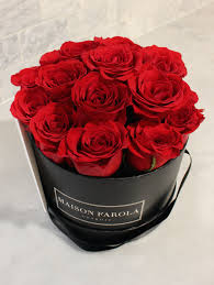 roses in a box signature roses in black box maison farola detroit floral