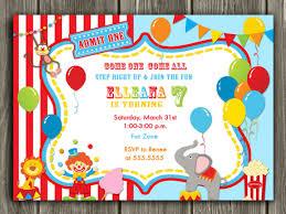circuscarnival birthday photo invitation printable thank