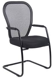 Guest Chairs by Boss Mesh Guest Chair With A Black Sled Base B6609 Bk