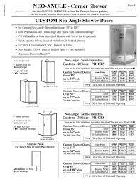 Shower Door Handle Height Shower Door Prices Hourglass Kitchen Bath Products