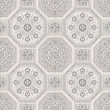 arthouse brasillia tile pattern wallpaper geometric metallic 690501