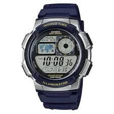 Jam Tangan Casio Karet jam tangan casio pria ae 1000w 2avdf karet biru silver rp
