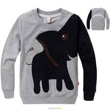 sweater t shirt boys sleeve tops color block elephant sweater t