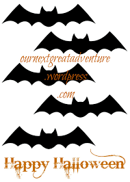 Bat Template Halloween by Halloween Decor Printable