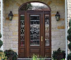 glass and wooden doors bell stained glass fiberglass and wood doors sheer elegance