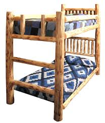 Log Bunk Bed Plans Rustic Unfinished Handpeeled Rustic Log Bunk Bed Reclaimed